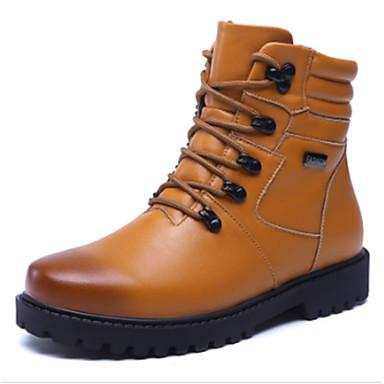 男性用 靴 PUレザー 秋 / 冬 コンフォートシューズ / ファッションブーツ ブーツ ホワイト / ブラック / Brown