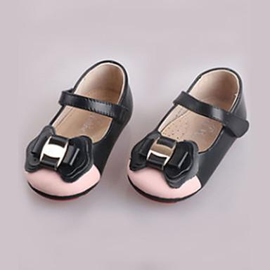 女の子 靴 レザー 春 / 秋 コンフォートシューズ フラット リボン / 面ファスナー のために 赤ちゃん ブラック