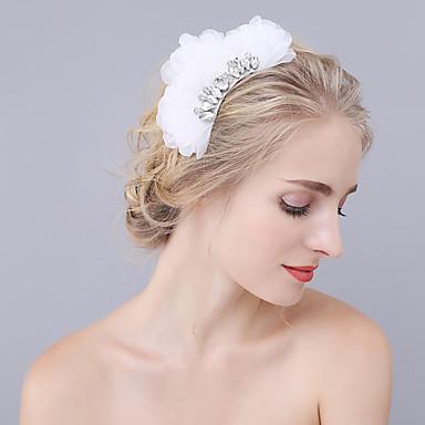 rhinestone organza hiukset kammat päähine klassinen naisellinen tyyli