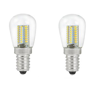 ONDENN 2pcs 2700-3000/6000-6500lm E14 LED-pallolamput C35 104PCS LED-helmet SMD 3014 Koristeltu Lämmin valkoinen Kylmä valkoinen 220-240V