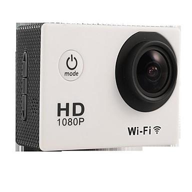SJ4000 Action Camera / Sports Camera 16MP 4000 x 3000 WiFi 調整可 防水 ワイヤレス 30fps 4X ±2EV 2 CMOS 32 GB H.264 英語 フランス語 ドイツ語 スペイン語 シングルショット