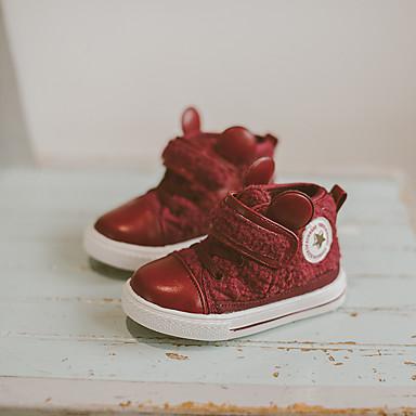 男の子 靴 ウール PUレザー 冬 コンフォートシューズ 赤ちゃん用靴 スニーカー 面ファスナー 用途 カジュアル ブラック イエロー レッド