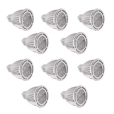 YWXLIGHT® 10pcs 450-500lm GU5.3(MR16) LED-spotpærer MR16 5 LED perler SMD 3030 Mulighet for demping Dekorativ Varm hvit Kjølig hvit 12V