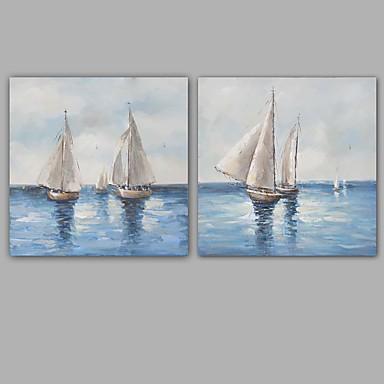 ハング塗装油絵 手描きの - 風景 クラシック 近代の キャンバス