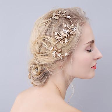 Strass Liga Barrette Presilha de cabelo 1 Casamento Ocasião Especial Capacete
