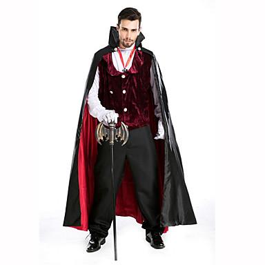 Vampyyri Festivaali/loma Halloween-asut Punainen / Musta Yhtenäinen Liivi / Housut / Käsineet / ViittaHalloween / Joulu / Karnevaali /