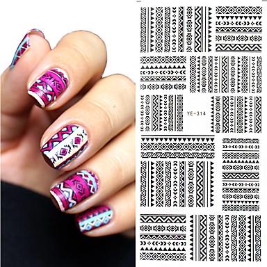 1 Nail Art klistremerke Vann Transfer dekor makeup Cosmetic Nail Art Design