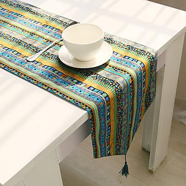 Suorakulma Kukka Patterned Table Runners , Cotton Blend materiaali Hotel ruokapöytä Taulukko Dceoration