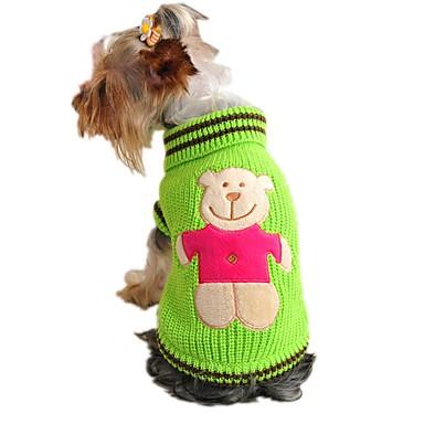 Kissa Koira Neulepaidat Koiran vaatteet Piirretty Keltainen Punainen Vihreä Akryylikuidut Asu Lemmikit Miesten Naisten Sievä Rento/arki
