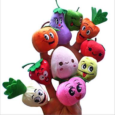 Marionetas de dedo Animales de peluche y de felpa Verduras Fruta Novedades Felpa Chica Regalo