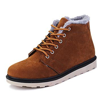 メンズ 靴 PUレザー 秋 冬 コンフォートシューズ ブーツ 編み上げ 用途 カジュアル ブラック ダークブラウン ブルー