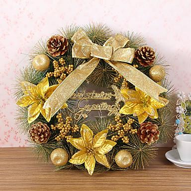 1 stk jul krans åler juledekorasjon for hjemmefest diameter 40cm navidad nye året forsyninger