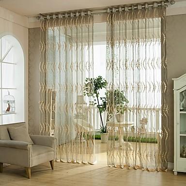 Stanglomme Et panel Window Treatment Europeisk Blomsternål i krystall Stue Poly/ Bomull Blanding Materiale Gardiner Skygge Hjem Dekor