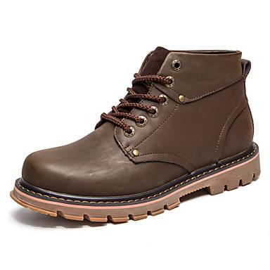 Miehet kengät Tekonahka Kevät Syksy Talvi Comfort Maiharit Bootsit Käyttötarkoitus Urheilullinen Kausaliteetti Musta Keltainen Tumman