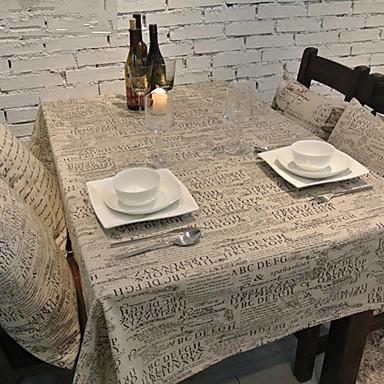 長方形 パターン柄 テーブルクロス , リネン/コットン混 材料 結婚式の宴会ディナー クリスマスの装飾の好意 表Dceoration ウェディング ディナーインテリアの好意 ホームデコレーション ホテルのダイニングテーブル ウェディングパーティーの装飾