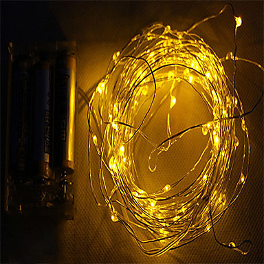 Leuchtgirlanden 20 SMD LEDs Warmes Weiß Weiß Rosa Lila Grün Gelb Blau Rot Wasserfest DC 4,5 V DC4.5