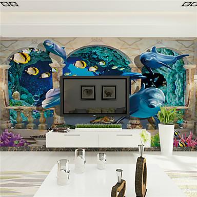3D Hjem Dekor Moderne Tapetsering, Lerret Materiale selvklebende nødvendig Veggmaleri, Tapet