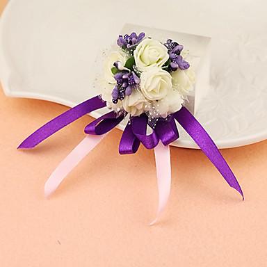 زهور الزفاف باقة ورد في رسغ ديكور زفاف جميل مناسبة خاصة حفل / مساء ستان 1.18