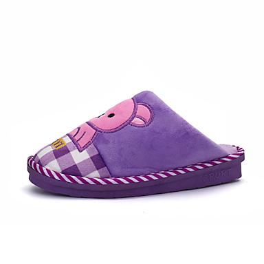 Damen-Slippers & Flip-Flops-Lässig-Pelz-Flacher Absatz-Komfort-Rosa Lila Rot