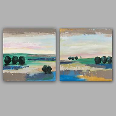 Maalattu Abstrakti Abstraktit maisemakuvat Moderni European Style Kanvas Hang-Painted öljymaalaus Kodinsisustus 1 paneeli