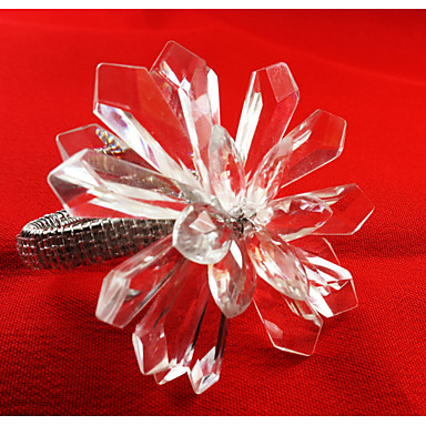 Rectangulaire Patterned / Geometric / Holiday Napkin Ring , Metalliseos materiaaliIllallinen sisustus Favor / Sisustus / Hotel ruokapöytä