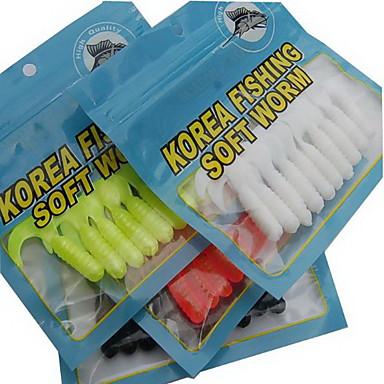 1 個 ソフトベイト ルアー グラブ ランダム色 グラム/オンス mm インチ,ソフトプラスチック 海釣り 川釣り