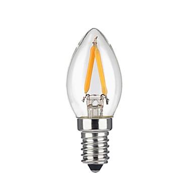 KWB 1pc 200lm E14 LED-glødepærer 2 LED perler COB Mulighet for demping Dekorativ Varm hvit 220-240V