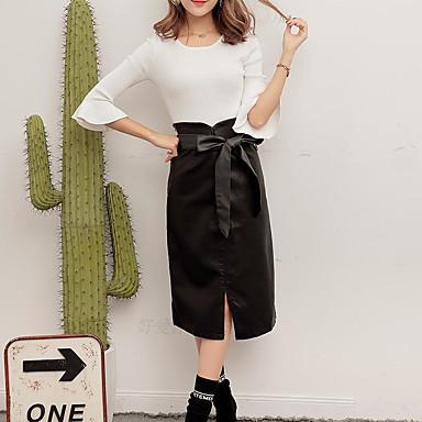 d5e88b2a8d9 podepsat 2016 nové zimní sukně balíček hip černé PU kůže sukně dámské sukně  vysokým pasem sukně
