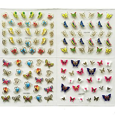 24pcs 3D Nail Stickers Nail Stamping Template Daglig Mote Høy kvalitet