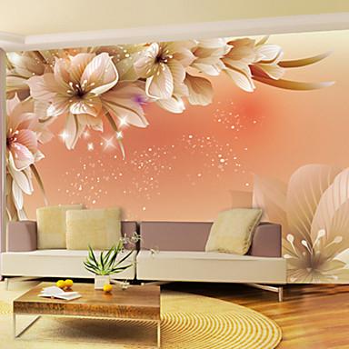 Veggmaleri Vinyl Tapetsering - selvklebende nødvendig Blomstret