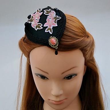 Damen Spitze Strass Stoff Kopfschmuck-Hochzeit Besondere Anlässe Kopfschmuck Mützen Haarclip