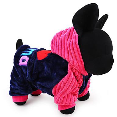 犬 パーカー 犬用ウェア 文字&番号 ブルー ピンク コットン コスチューム ペット用 男性用 女性用 カジュアル/普段着 保温