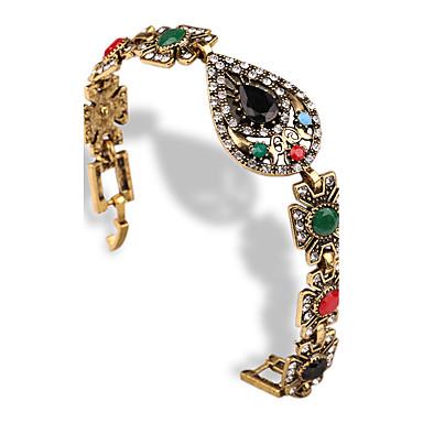 女性 バングル ビンテージ 合成宝石類 イミテーションダイヤモンド 合金 ハート ドロップ ジュエリー 用途 カジュアル