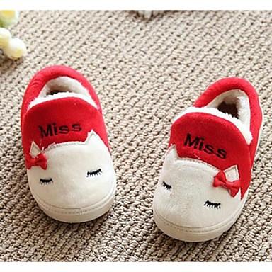 キッズ 女の子 赤ちゃん 靴 フリース コンフォートシューズ スリッパ&フリップ・フロップ 用途 カジュアル レッド ブルー