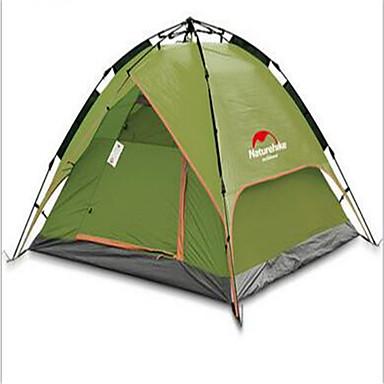 Naturehike 3-4人 テント シェルター&タープ ダブル キャンプテント 1つのルーム 自動テント 通気性 防水 携帯用 速乾性 抗紫外線 防雨 のために 釣り ビーチ キャンピング 旅行 屋外 ファイバーグラス cm