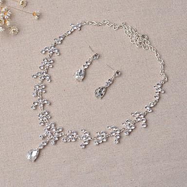 Mujer Conjunto de joyas - Incluir Los sistemas nupciales de la joyería Plata Para Boda Fiesta
