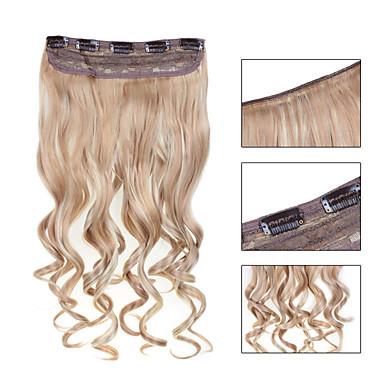 Κουμπωτό Επεκτάσεις ανθρώπινα μαλλιών Κυματιστό 1pc / Πακέτο 24 Ίντσες