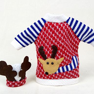 ホリデー用品 クリスマスデコレーション クリスマスパーティー用品 おもちゃ Elk 3D 繊維 2 小品