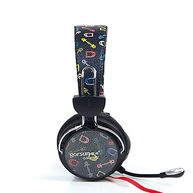 Gorsun GS-788 耳に ヘアバンド ケーブル ヘッドホン 動的 プラスチック ゲーム イヤホン ノイズアイソレーション マイク付き ボリュームコントロール付き ヘッドセット