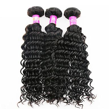 İnsan saç örgüleri İri Dalgalı Peru Saçı Derin Dalga 3 Parça saç örgüleri