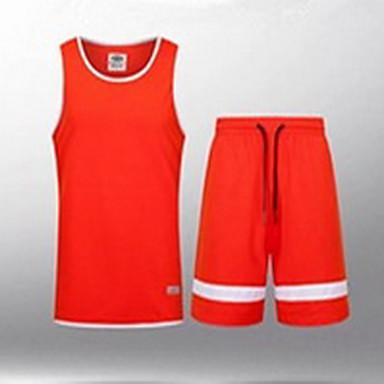 男性用 半袖 バスケットボール / ランニング トレーナー / トップス 高通気性 / モイスチャーコントロール / 快適 / 伸縮性あり