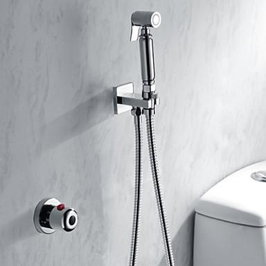 샤워 수전 - 콘템포라리 우아한 크롬 샤워 시스템 브라스 발브