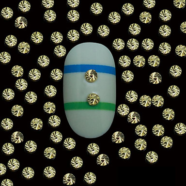 100 Kynsien korut Muut koristeet Bloem Abstract Klassiek Cartoon Schattig Bruiloft Dagelijks Bloem Abstract Klassiek Cartoon Schattig