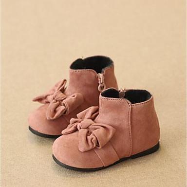Mädchen-Stiefel-Lässig-Vlies-Flacher Absatz-Komfort-