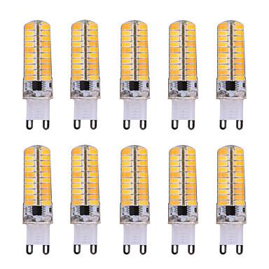 YWXLIGHT® 10pcs 7W 500-700lm G9 LED-kornpærer T 80 LED perler SMD 5730 Mulighet for demping Dekorativ Varm hvit Kjølig hvit 110-220V