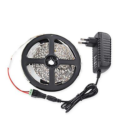 5m Lichtsets 300 LEDs Warmes Weiß / Weiß / Rot Fernbedienungskontrolle / Schneidbar / Abblendbar 100-240 V / 3528 SMD / Verbindbar