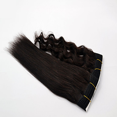 Indian Hair Straight Natural Color Hair Weaves Human Hair Weaves Natural Black Human Hair Extensions