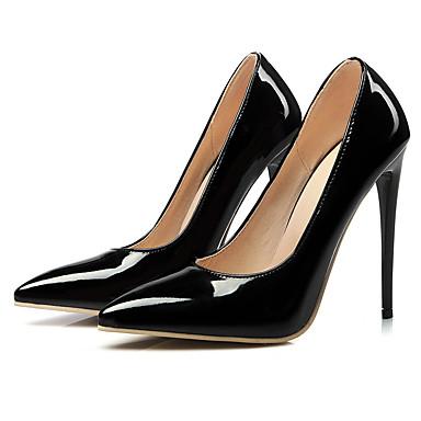 女性用 靴 PUレザー 春 秋 Tストラップ ヒール スティレットヒール ポインテッドトゥ のために 結婚式 パーティー ドレスシューズ ブラック イエロー レッド ピンク アーモンド