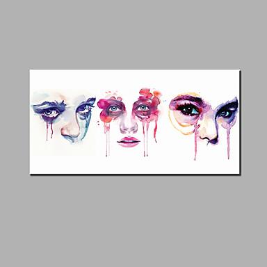 käsinmaalatut abstrakti / abstrakti muotokuva moderni / klassinen yksi paneeli kangas öljymaalaus