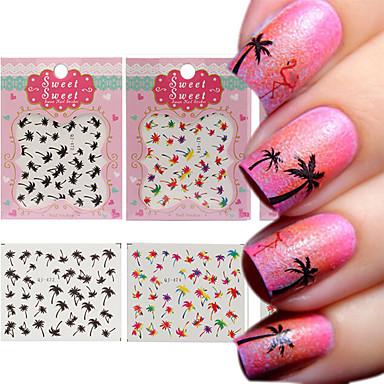 3 Sheet Nail Art tarra Veden siirto Decals meikki Kosmeettiset Nail Art Design